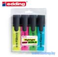 Edding 345 маркер текстовый набор 4 цвета